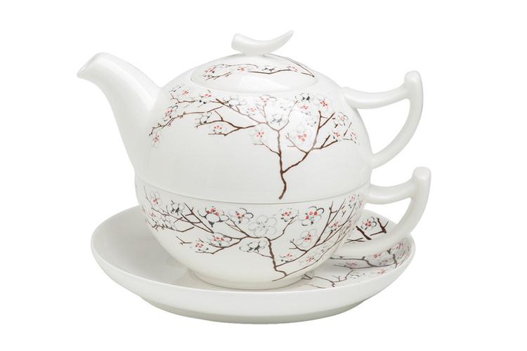 Bílá třešeň - fine bone china tea for one