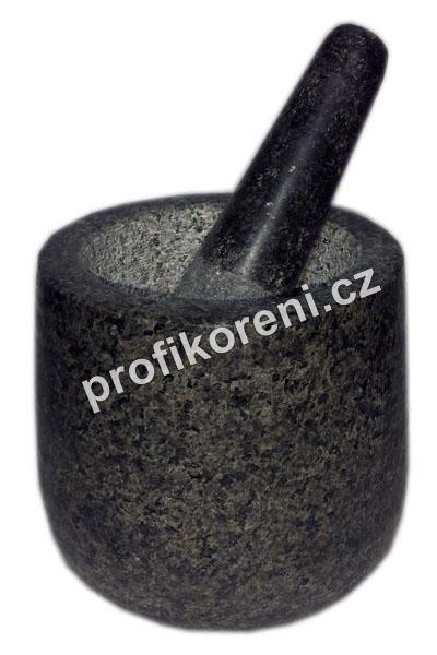 Hmoždíř kamenný 11,5 cm - vysoký - AKCE ! (Žulový hmoždíř)